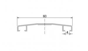 Krycí lišta Makrolon d.5m