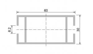 Al profil - paždík 60x30 PÚ elox s otlaky