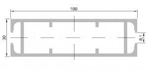 Al profil - paždík 100x30 PÚ elox