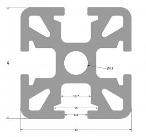 Systémový profil KOMBI 40x40mm