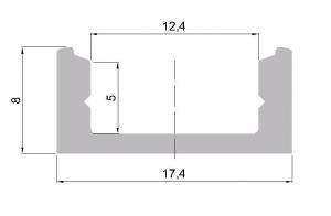 Hliníkový profil pro LED standardní