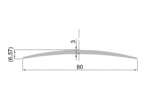 Krycí lišta š.80mm; přír. elox