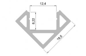 Hliníkový profil pro LED rohový + krytka