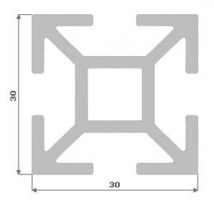 Al profil - Kombi stojka 30x30 elox 5,92m