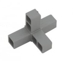 Plast. spojka pro J20x20x1,5  4D