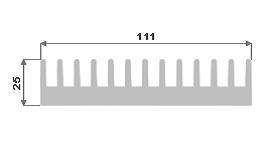 Hliníkový chladič 111x25