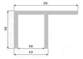 F 25X15X1.5  MEZERA 10.2mm