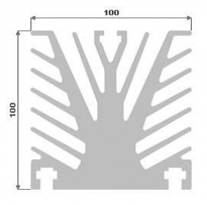 Hliníkový chladič 100x100