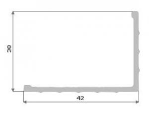 Hliníkový L profil 42X30X2 ROH.