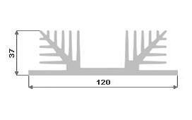 Hliníkový chladič 120x37 3m